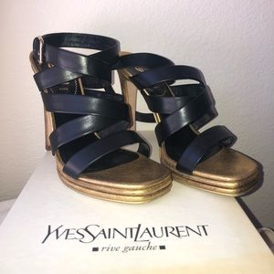 YSL Montaig Sandals / Heels (authentic)